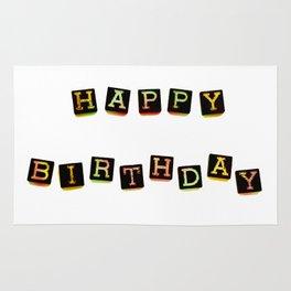 Happy Birthday Blocks Rug