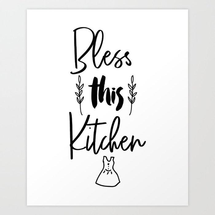 Superieur Bless This Kitchen, Kitchen Art Printable, Kitchen Quote Printable, Bless  This Kitchen Art