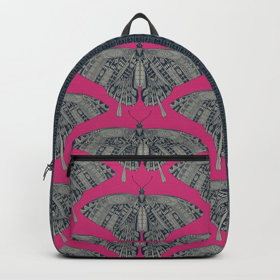 swallowtail butterfly pink indigo Backpack