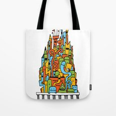 Monster Tower III Tote Bag