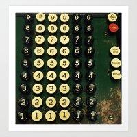 numbers Art Prints featuring Numbers by Hazel Bellhop