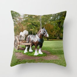 The Waddesdon Horse Throw Pillow