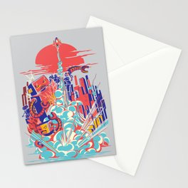 Smash! Zap!! Zooom!! - Generic Spacecraft Stationery Cards