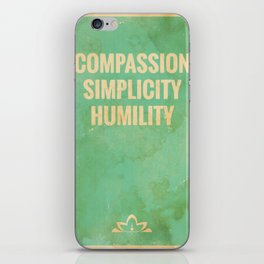 The Three Jewels of Taoism: Compassion, Simplicity, Humility iPhone Skin