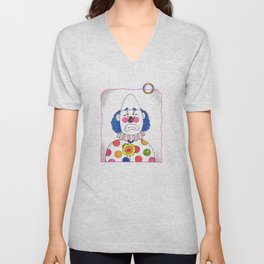 Clown with Ring Unisex V-Neck