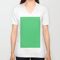 emerald V-neck T-shirts featuring Emerald by List of colors