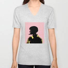 Katy Portrait Art - Inspired by Music Video - This Is How We Do  Unisex V-Neck