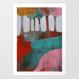 Day 4 In The Woods, Contemporary Abstract Landscape Art Print