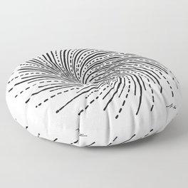 Tesla Whirl of Energy Floor Pillow