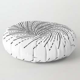 Tesla Whirl of Energy Floor Pillow