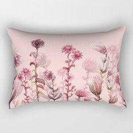 For Her ! Pink Flowers Rectangular Pillow