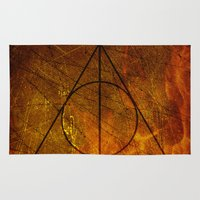 deathly hallows Area & Throw Rugs featuring Deathly Hallows Part 2 by Kory Hill
