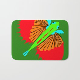The Spectacular Flying Fish Bath Mat