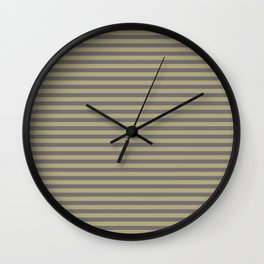 Rayures stripes moutarde taupe Wall Clock