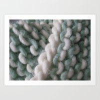 knit Art Prints featuring Knit by The Pink Goldfish
