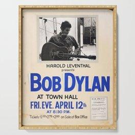 Vintage 1963 Bob Dylan Concert Poster Serving Tray