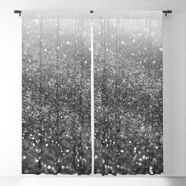 Silver Gray Black Glitter #2 (Faux Glitter - Photography) #shiny #decor #art #society6 Blackout Curtain