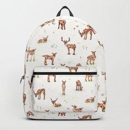 Watercolour Deer & Mushrooms Backpack