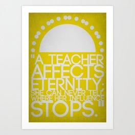 A Teacher for Christina Art Print