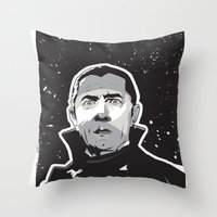 dracula Throw Pillows featuring Dracula by Matt Fontaine Creative