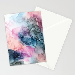 Heavenly Pastels: Original Abstract Ink Painting Stationery Cards
