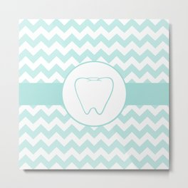 Chevron Tooth Metal Print