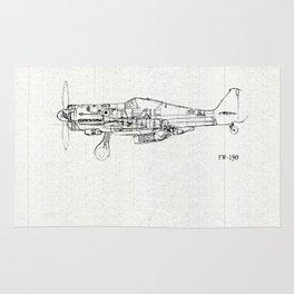FW - 190 ( B & W) Rug
