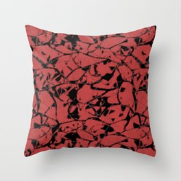 Abstract spotted pattern Throw Pillow