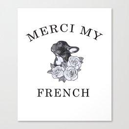french bulldog t-shirt love dogs Canvas Print