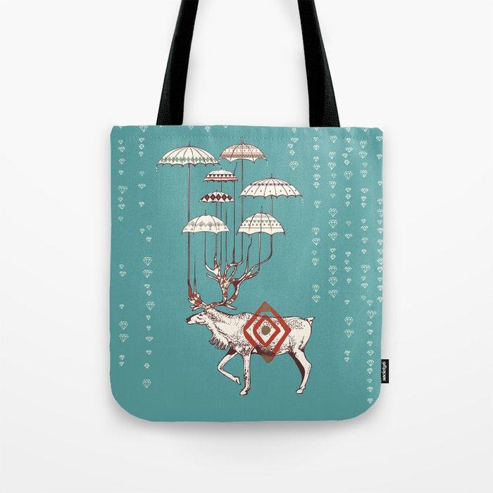 Rain Deer Tote Bag