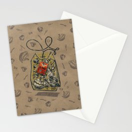 Tea bag Stationery Cards