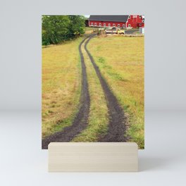 Red Barn Dirt Road Mini Art Print