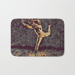 1315s-ZAC Dancer Leaping Air Time Beautiful Black Woman Antonio Bravo Style Bath Mat