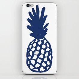 Navy Pineapple iPhone Skin