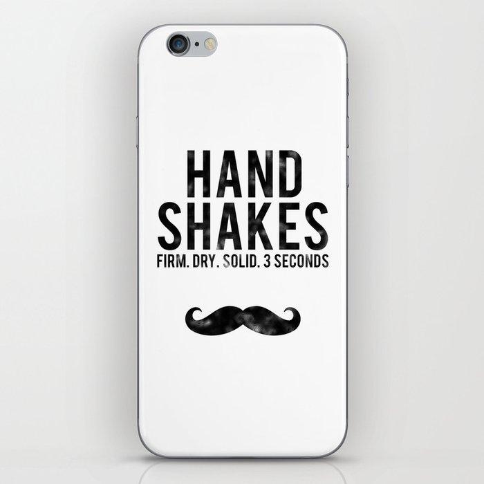 The Handshake Law iPhone Skin