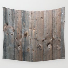 Brown Wooden Fence Wall Tapestry