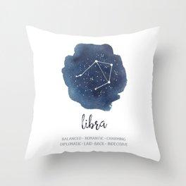 Libra Constellation Zodiac Print Throw Pillow