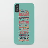 risa rodil iPhone & iPod Cases featuring Read Books by Risa Rodil