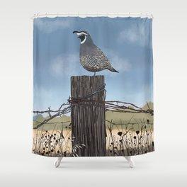California Quail Shower Curtain