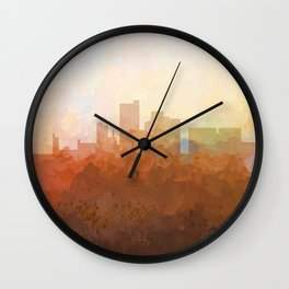 Lubbock, Texas Skyline - In the Clouds Wall Clock