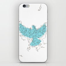 Bird Fly 3 - Aqua/Brown iPhone & iPod Skin