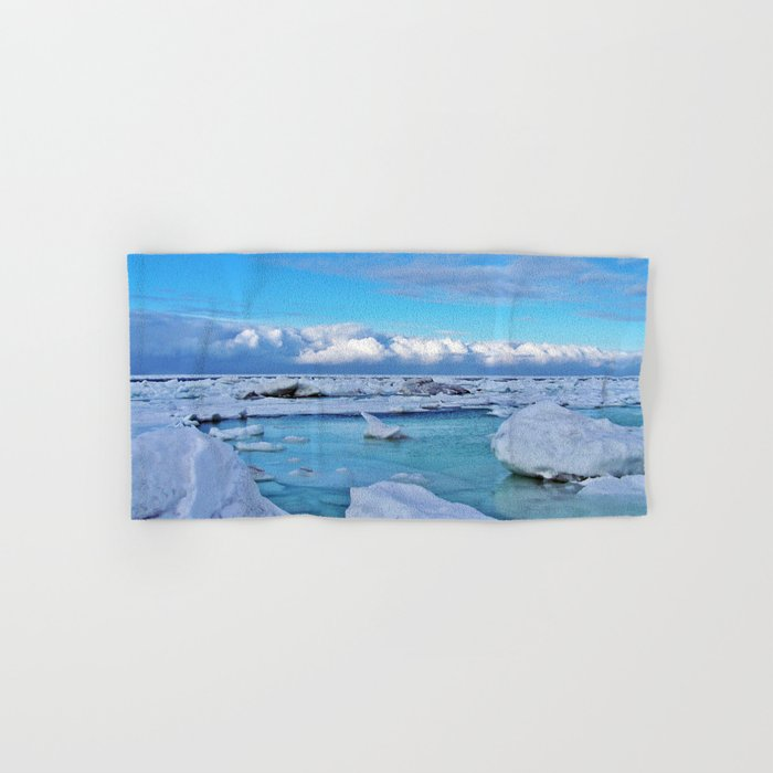 Frozen, and clouds on the Horizon Hand & Bath Towel