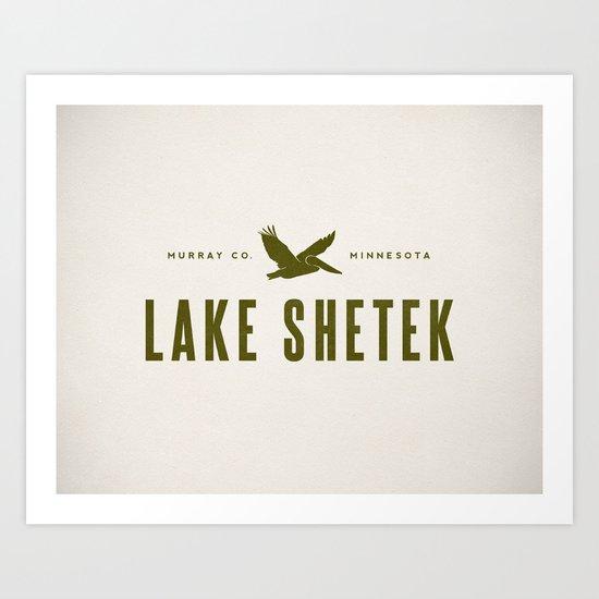 Lake Shetek Art Print