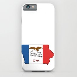 Iowa Map with Iowan Flag iPhone Case