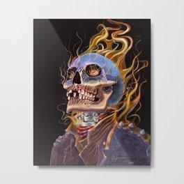 My Ghost Rider - Spirit of Vengeance Portrait: in Memory of Stan Lee Metal Print