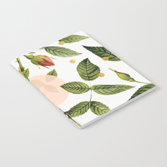 Leaves + Dots Notebook