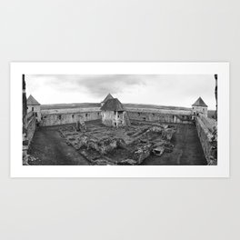 Fortress monastery courtyard Art Print