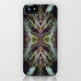 kaleidoscopic fern iPhone Case