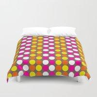 polka dots Duvet Covers featuring polka dots by nandita singh