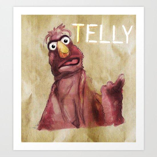 Telly Monster Art Print